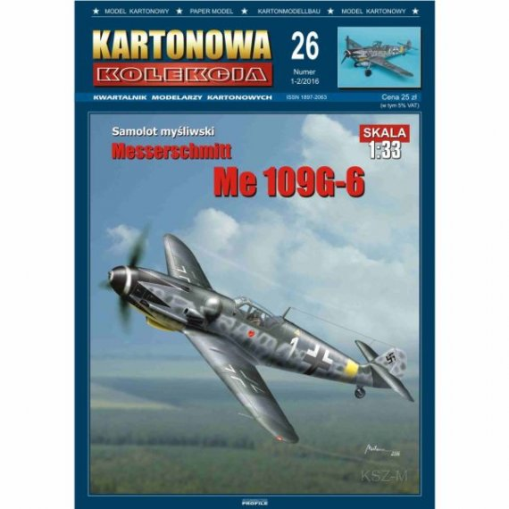 Kartonowa Kolekcja 26 - Samolot Me-109 G-6