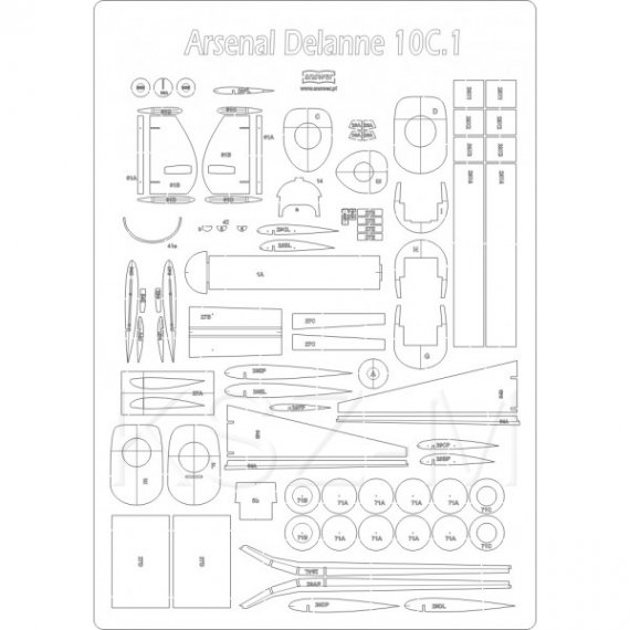 Szkielet do Arsenal Delanne 10.C1 - MPModel 45