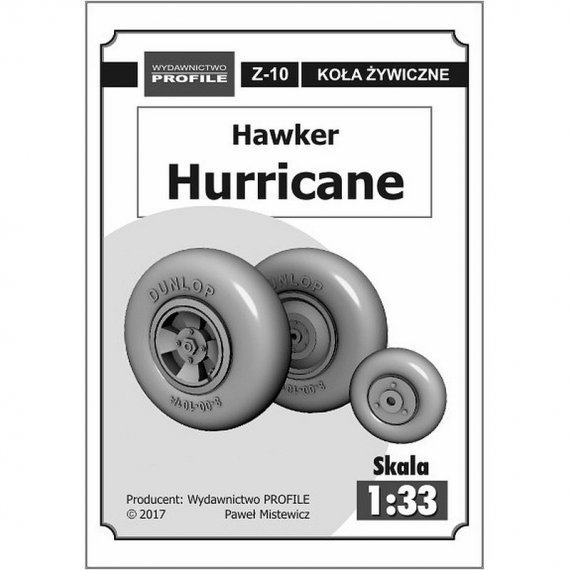 Koła do Hurricane Mk IIB i C - Kartonowa Kolekcja