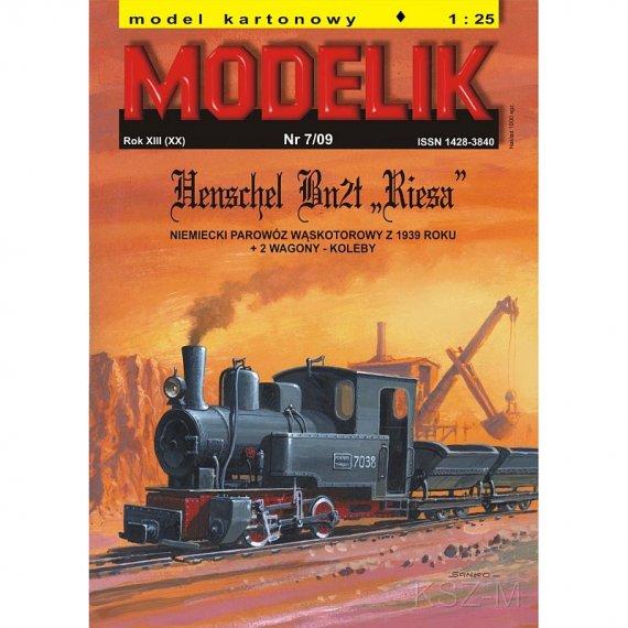 Modelik 7/09 - Bn2t Riesa + 2 wagony-koleby