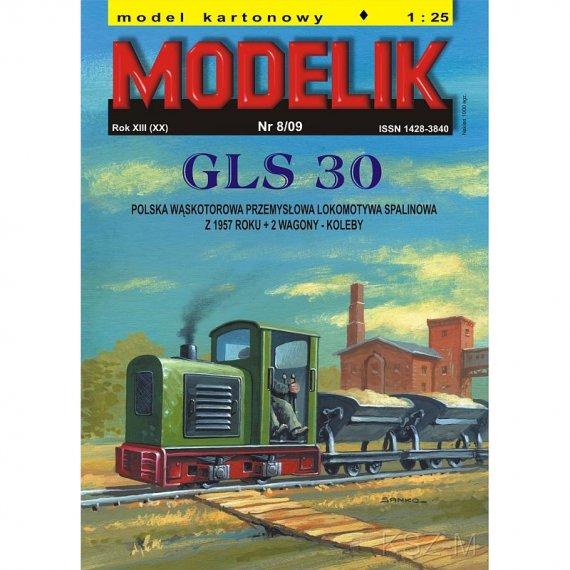 Modelik 8/09 - GLS-30 + 2 wagony-koleby