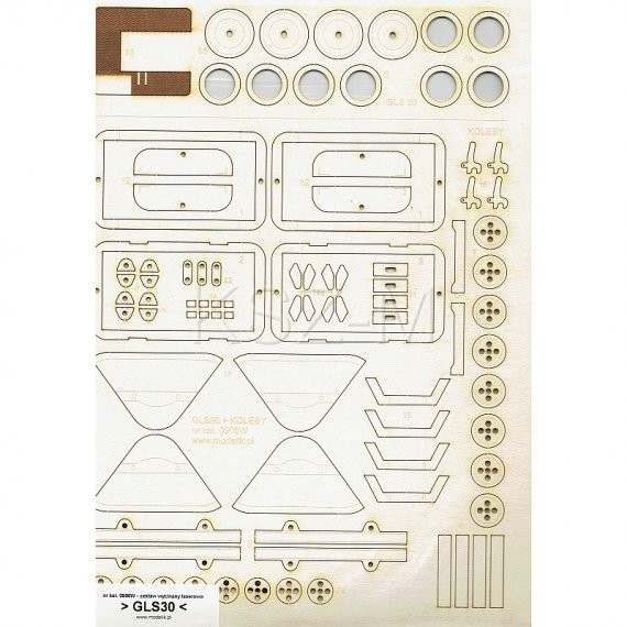Zestaw laserów do GLS-30 + 2 wagony-koleby - Modelik 8/09