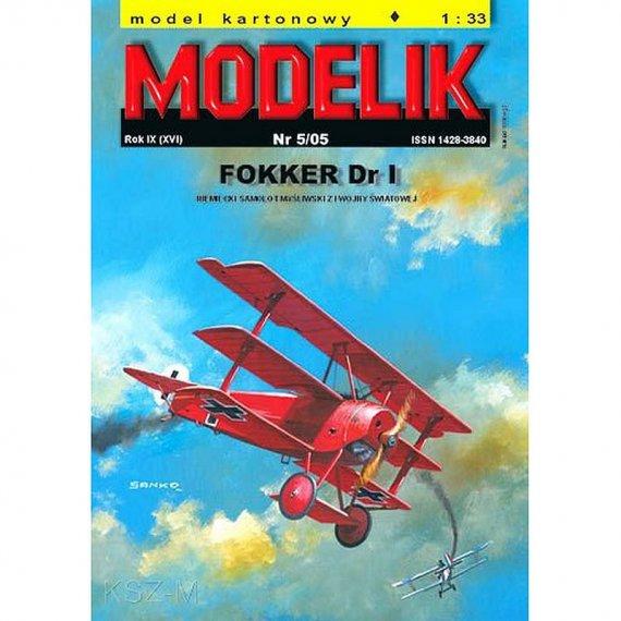 Modelik 5/05 Samolot Fokker Dr.I