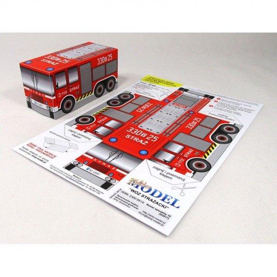 Sklej Model nr 10 - Wóz strażacki