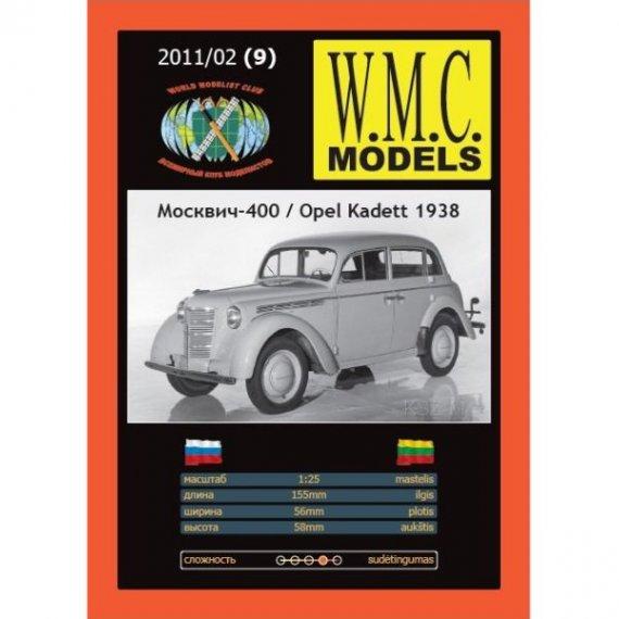 WMC Models 9 - Opel Kadet 1938 / MOSKWICZ 400