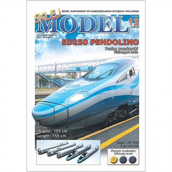 Sklej Model 13 - ED250 Pendolino