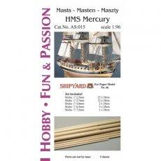 Kijki do masztów i rej do HMS Mercury - Shipyard 66