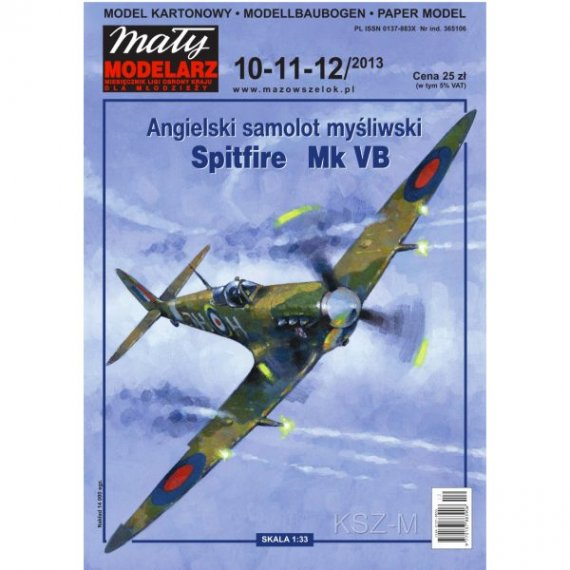 Mały Modelarz 10-12/13 Samolot Spitfire Mk VB