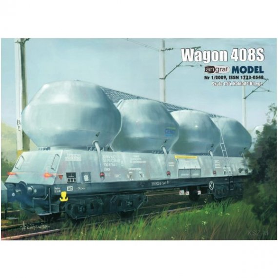 Angraf 1/09 - Wagon do przewozu cementu 408S