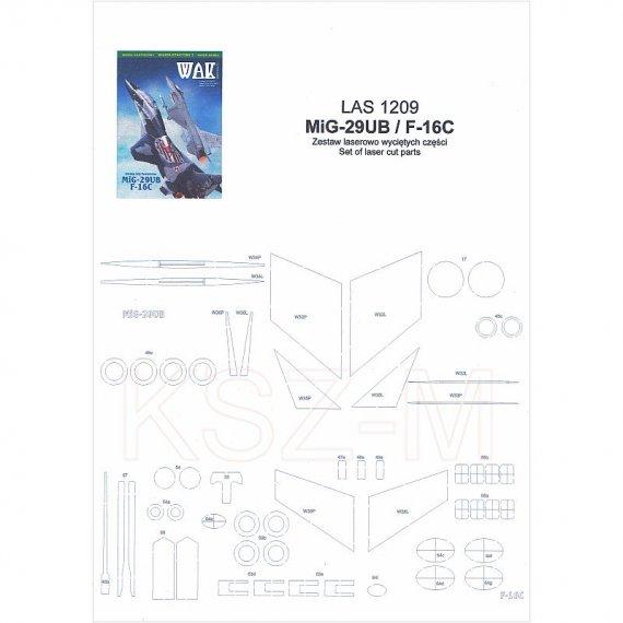 Szkielet do MiG-29UB i F-16C - WAK 9-10/12