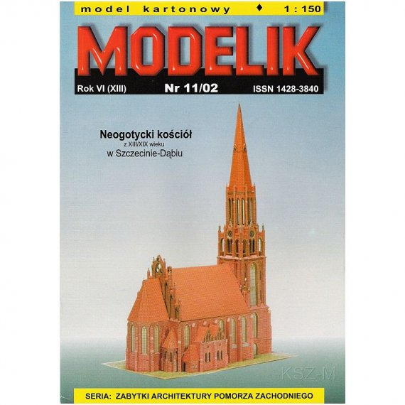 Modelik 11/02 - Kościół w Szczecinie-Dąbiu