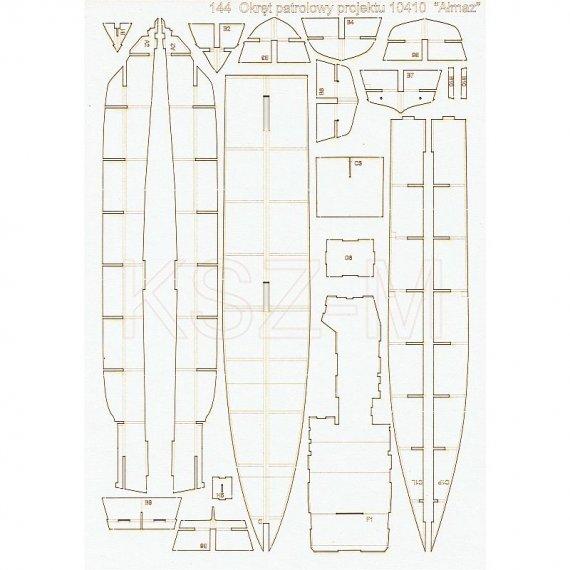 Szkielet, detale do okrętu Ałmaz - Orlik 144