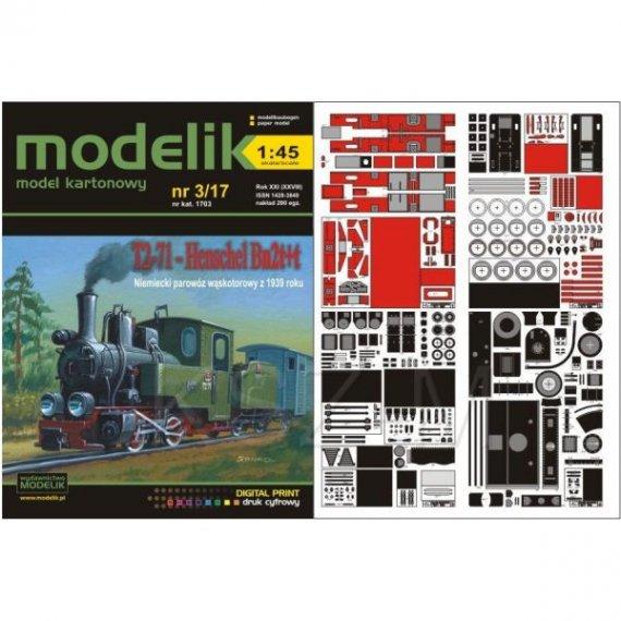 Modelik 3/17 - Parowóz T2-71 Henschel Bn2t+t