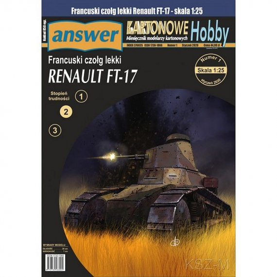 Answer 1/20 - Czołg Renault FT-17