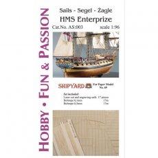 Żagle do HMS Enterprize - Shipyard 69