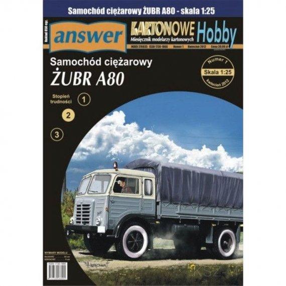 Answer 1/12 - Samochód ciężarowy Żubr A80