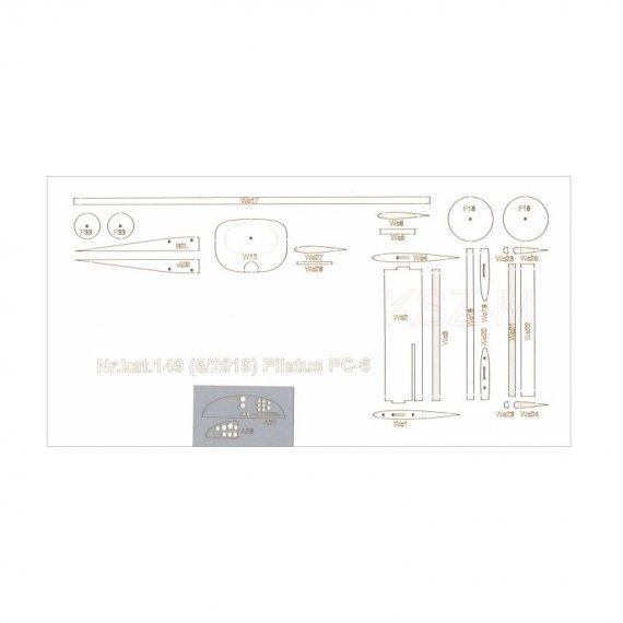 Pilatus PC-6 Porter - elementy wycinane laserowo, Orlik 149