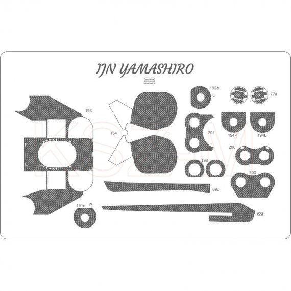 Pokład ryflowany do Yamashiro - Angraf 163 1:200