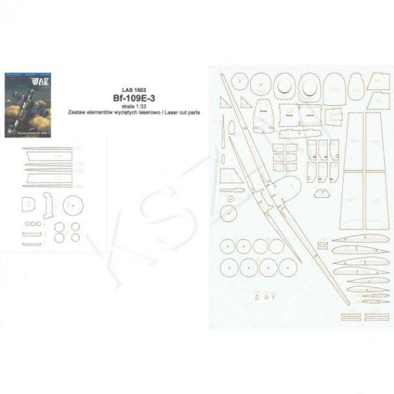 Laser do WAK 3/15 -Samolot Messerschmitt Bf-109E-3