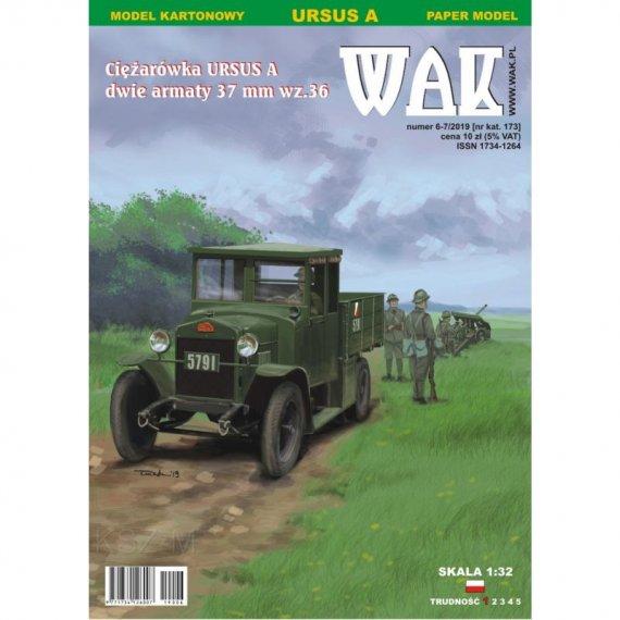 WAK 6/19 - Ursus A i dwa działa ppanc. 37mm