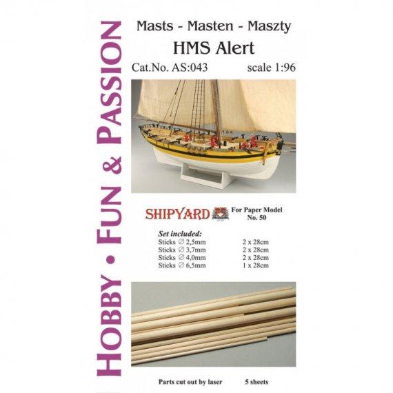 Kijki masztów i rej do HMS Alert - Shipyard 50