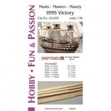 Kijki masztów i rej do HMS Victory - Shipyard 67