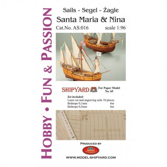 Żagle do Santa Maria i Nina - Shipyard 65