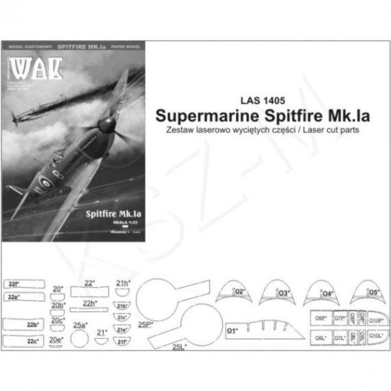 Laser do WAK 5/14 Samolot myśliwski Spitfire Mk.Ia