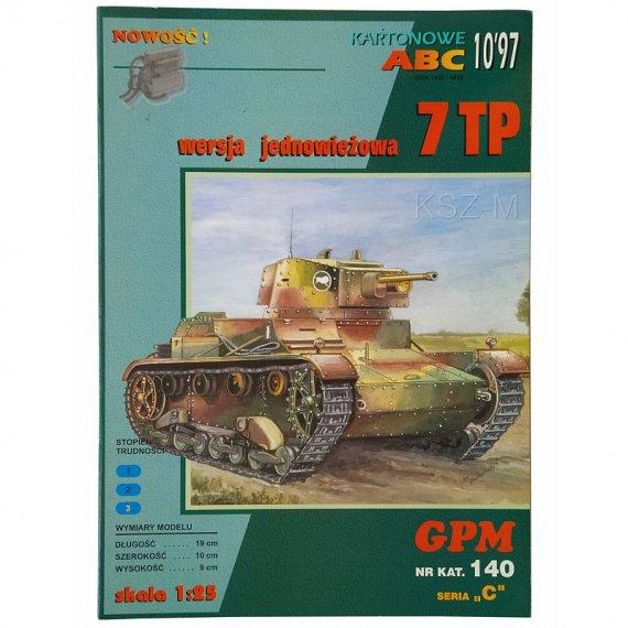 GPM 140 - Czołg 7 TP (jednowieżowy)