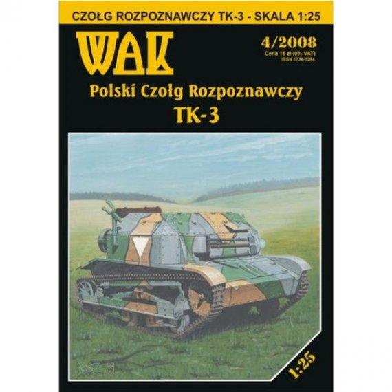 WAK 4/08 - Polski czołg rozpoznawczy TK-3