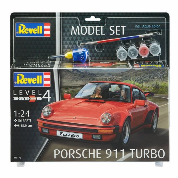 REVELL 67179 - Porsche 911 Turbo + farby + klej