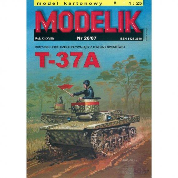 Modelik 26/07 - T-37A rosyjski czołg pływający