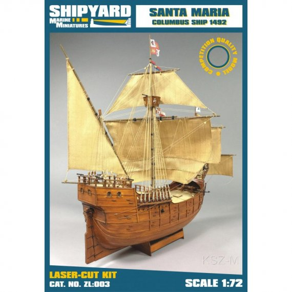 SHIPYARD - Santa Maria 1492 - wycięty laserem