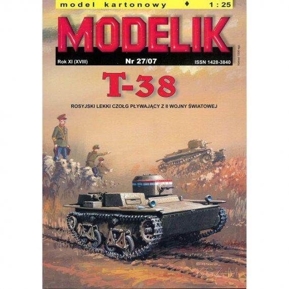 Modelik 27/07 - T-38 rosyjski czołg pływający