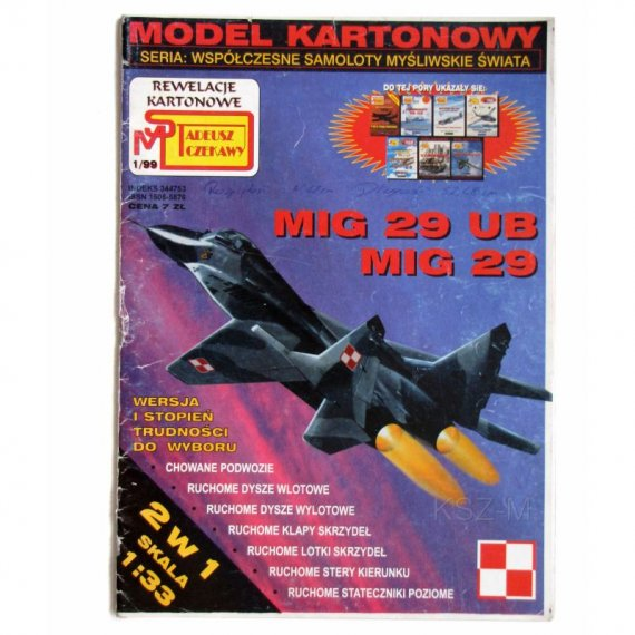 Rewelacje Kartonowe 1/99 - Mig-29 UB