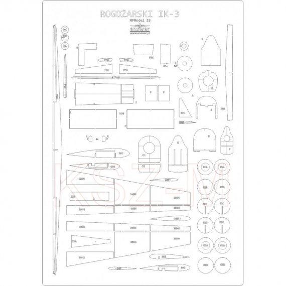 Szkielet, detale do Rogozarski IK-3 - MPModel 53