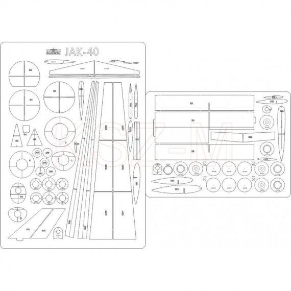 Szkielet, detale do JAK-40 PLL LOT z MPModel 52