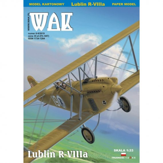WAK 8-9/19 - Lublin R-VIIIa samolot liniowy