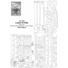 Szkielet,detale do Lublin R-VIIIa - WAK 8-9/19