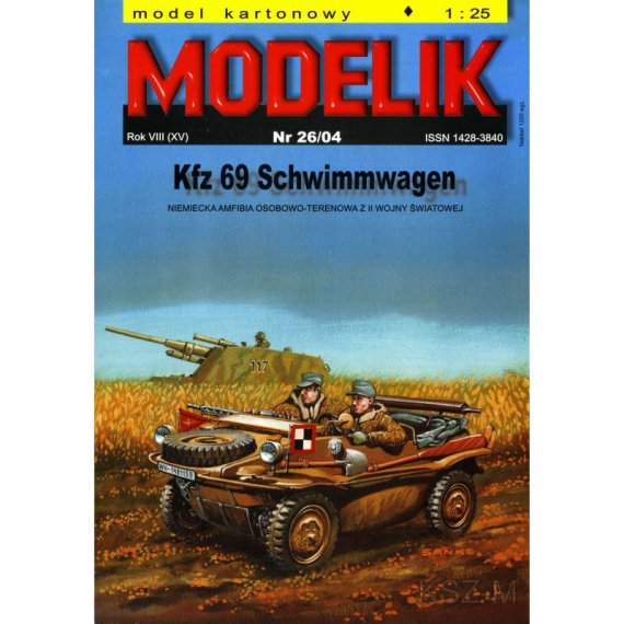 Modelik 26/04 - Amfibia Kfz 69 Schwimmwagen