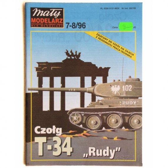 Czołg T-34 Rudy - Mały Modelarz 7-8/96