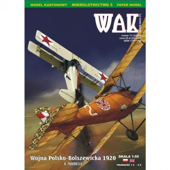 WAK 11-12/14 Wojna Polsko-Bolszewicka - 4 samoloty