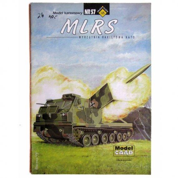 MLRS wyrzutnia Rakietowa Nato - Model Card 57