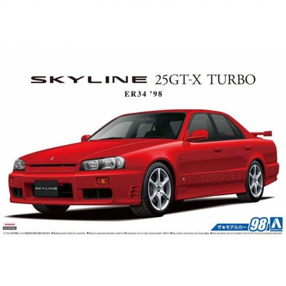 Nissan ER34 Skyline 25GT-X Turbo '98 - Aoshima 05750