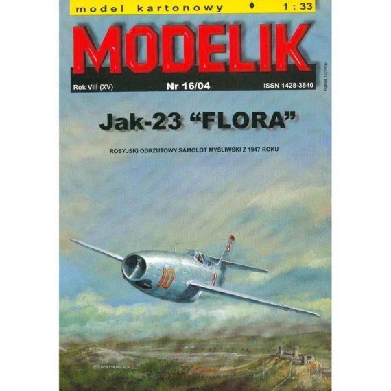 Myśliwiec Jak-23 FLORA - Modelik 16/04