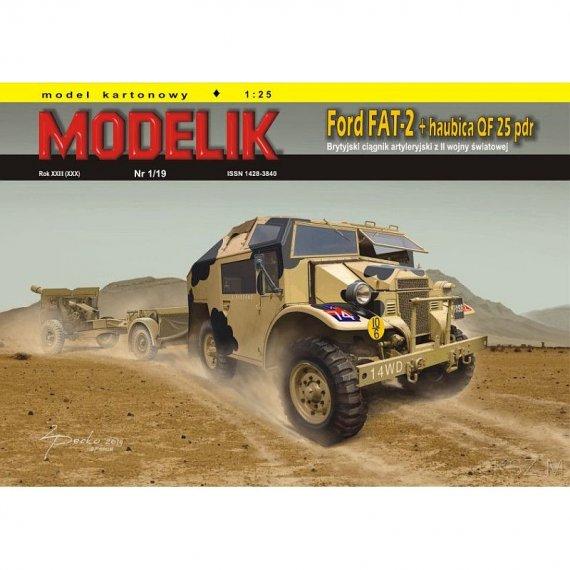 Ford FAT 2 + haubica QF 25 - Modelik 1/19