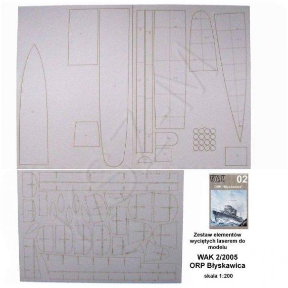 Laser do WAK 2/05 Niszczyciel ORP Błyskawica