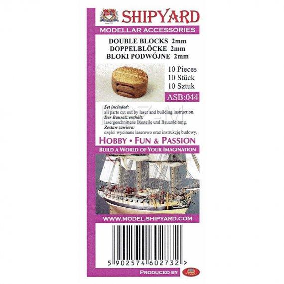 Bloki podwójne 2 mm (10 sztuk) - Shipyard