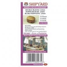 Bloki podwójne 2,5 mm (10 sztuk) - Shipyard