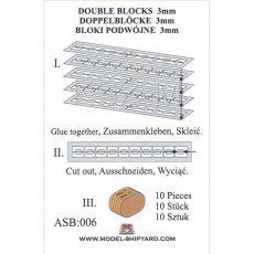 Bloki podwójne 3 mm (10 sztuk) - Shipyard